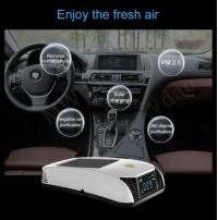 Автомобильный очиститель воздуха.Twin Turbo с цифровым дисплеем.Солнечная батарея